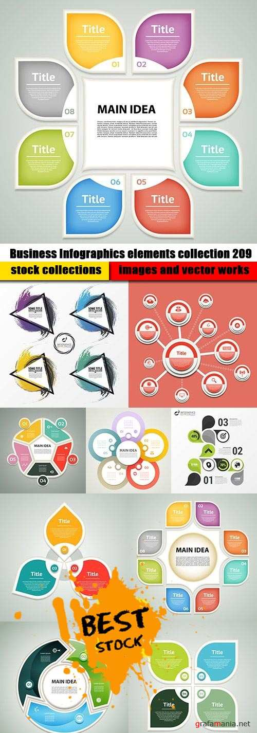 Business Infographics elements collection 209
