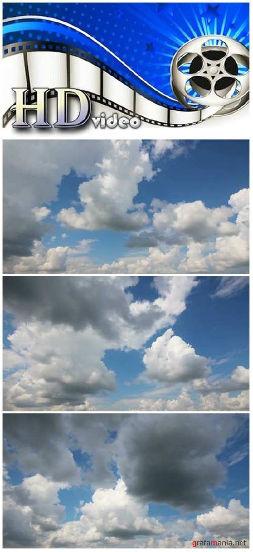 Video footage timelapse with beautiful clouds moving