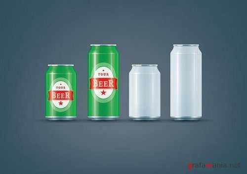 White Can / Beer can mock-up 952410
