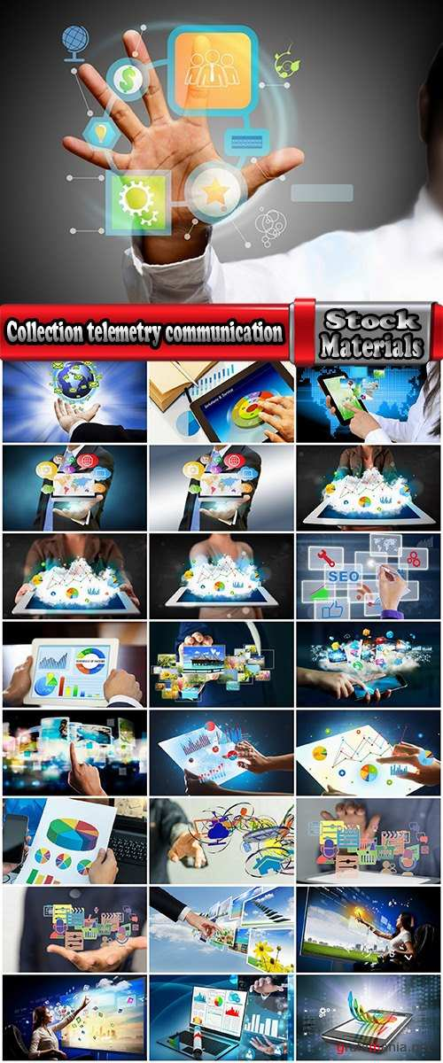 Collection telemetry communication product range of high-tech Internet technology computer gadget 25 HQ Jpeg