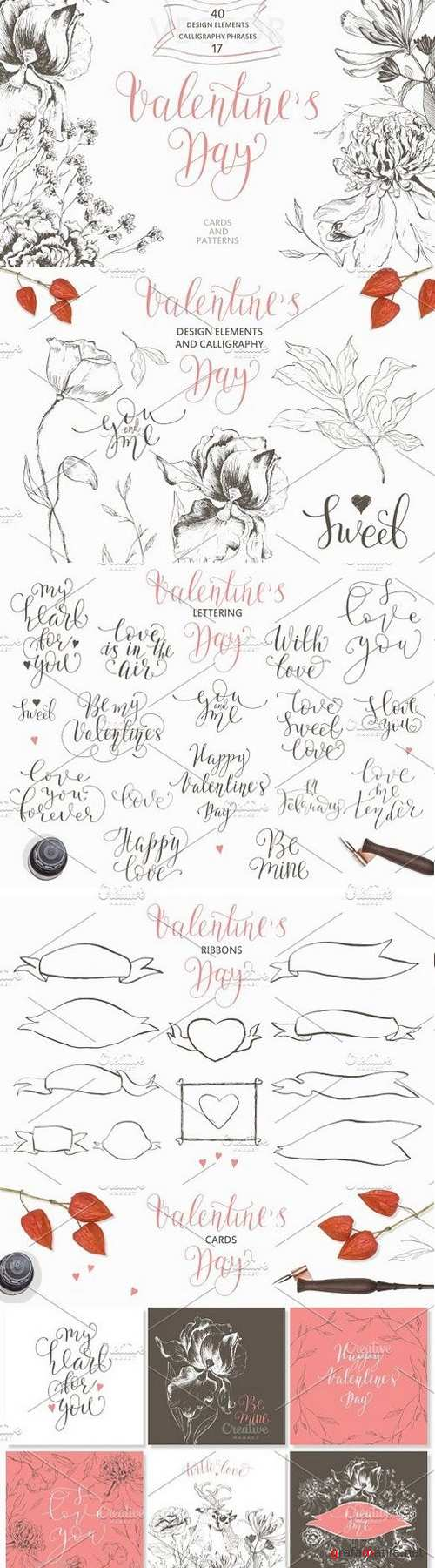 Valentine,s Day.Calligraphy & Drawings 1199643