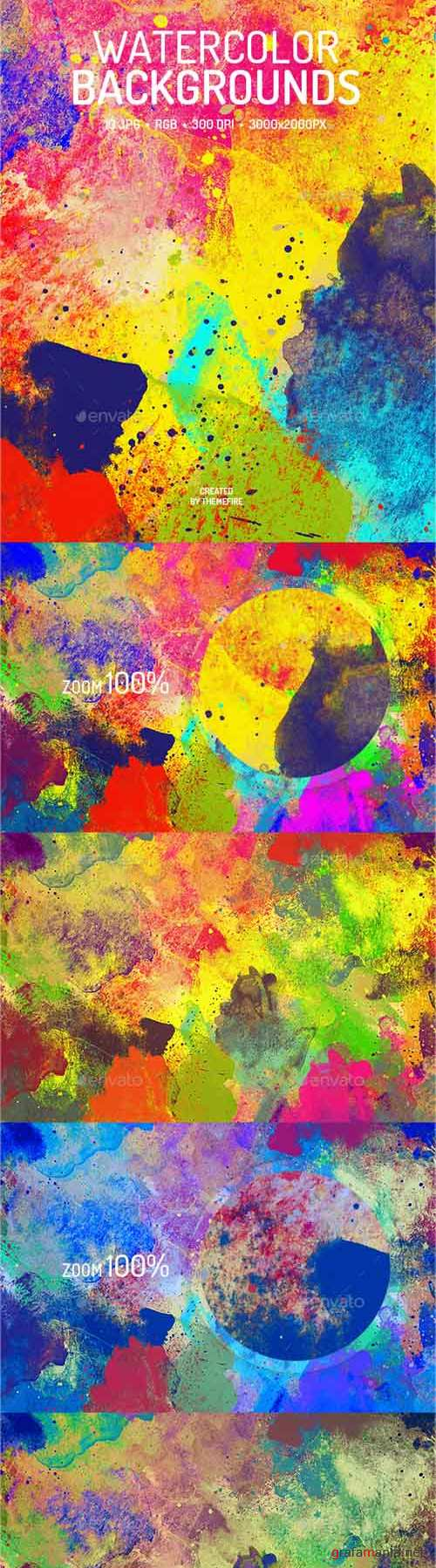 Abstract Watercolor Backgrounds 19356863