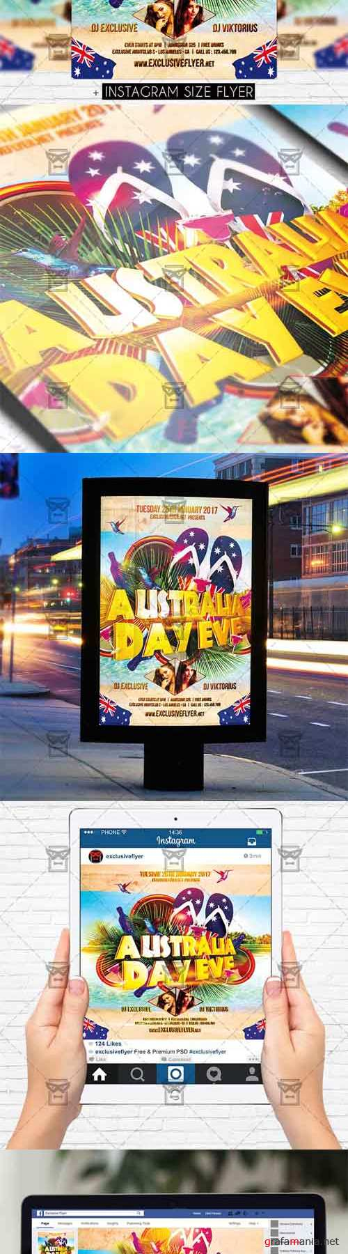 Flyer Template - Australia Day Eve