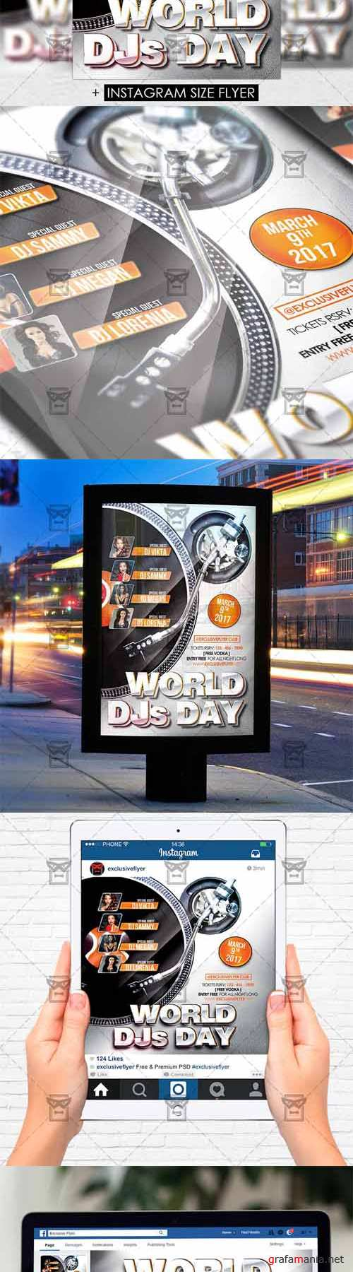 Flyer Template - World DJS Day Vol 2