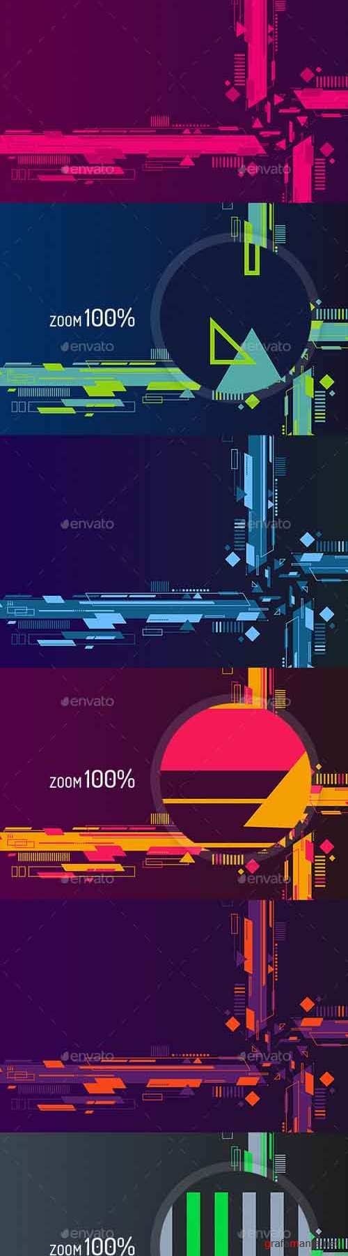 Abstract Flat Tech Backgrounds 19457492