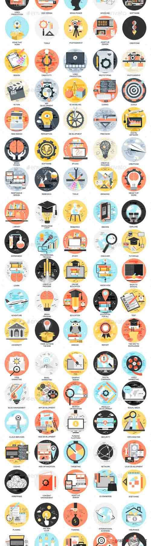 Set of Flat Design Concept Business Icons 18337040