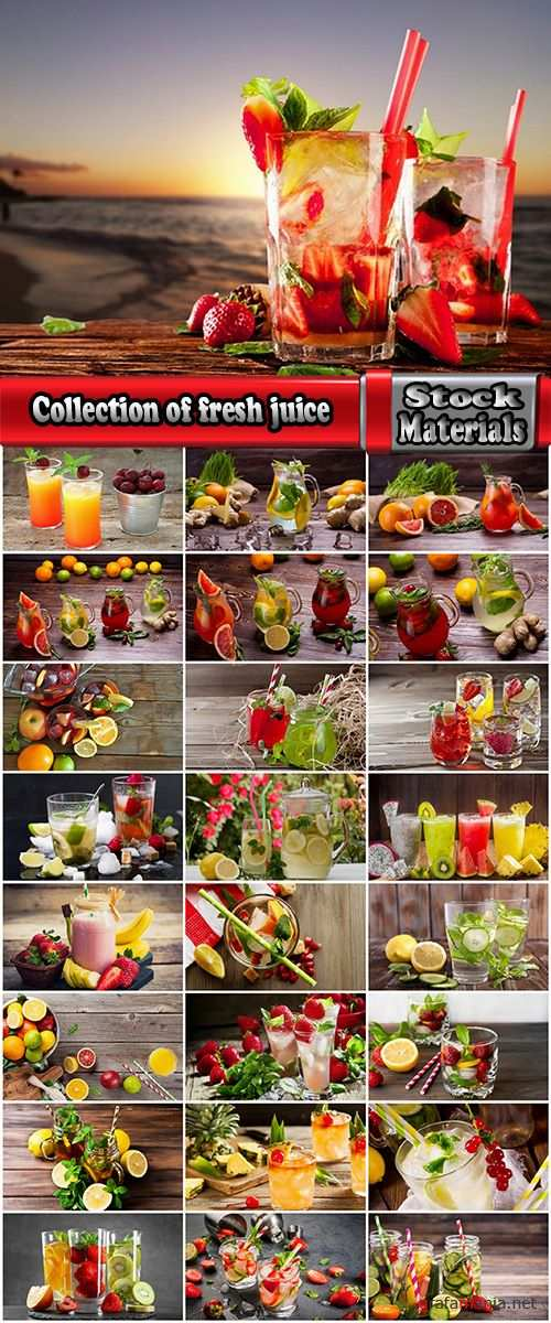 Collection of fresh vegetables fruit juice cocktail ice collection of different drinks vitamins 25 HQ Jpeg