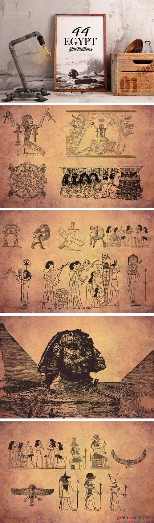 44 Egypt Illustrations - 1275959