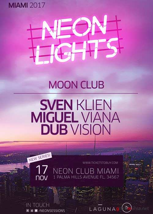 Neon City Club V7 Flyer and Poster Template