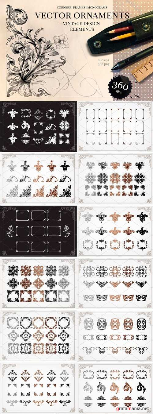 Ornament Elements for Decorate - 1160832
