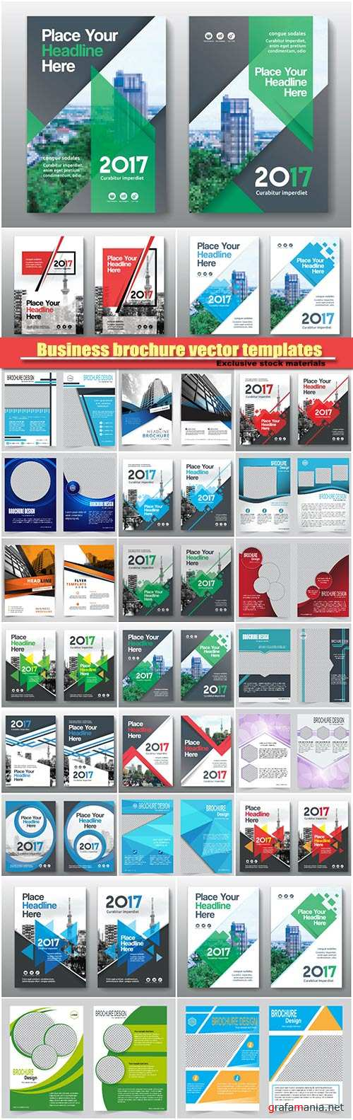 Business brochure vector, flyers templates