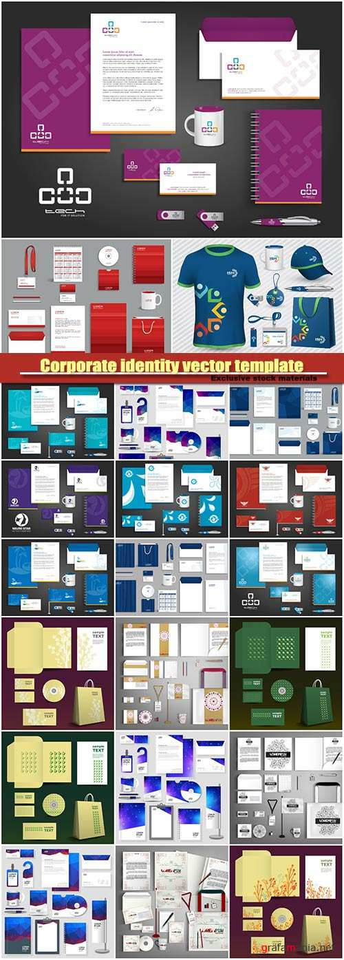 Corporate identity vector template design