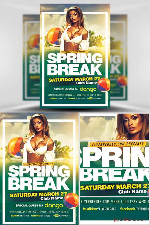 Flyer Template - Spring Break 2017 2