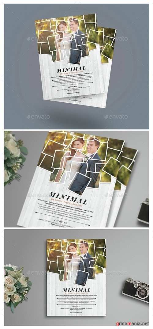Minimal Wedding Photography Flyer - 14762905