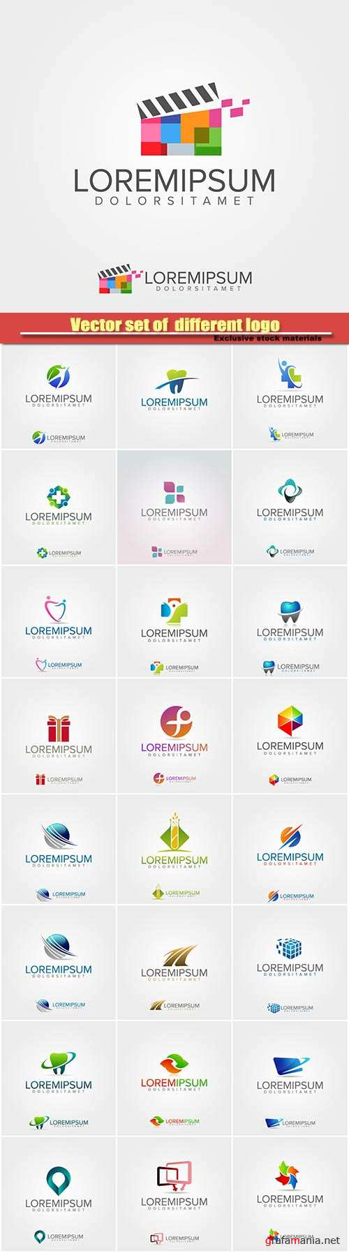 Vector set of  different logo