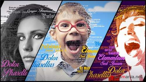 3D Typography Portrait Tool - After Effects Project (Videohive)