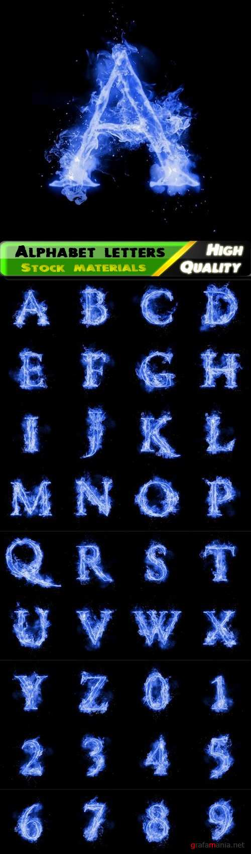 Alphabet letters and font with natural gas fire or burning flame 36 Jpg