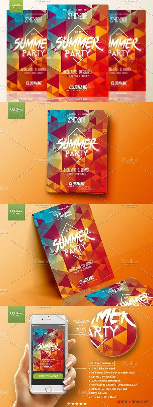 Summer Party | Psd Flyer Template - 678797