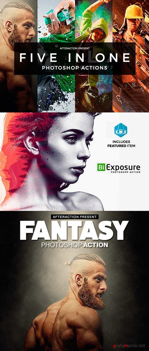After Actions Bundle - Photoshop Actions 19531872