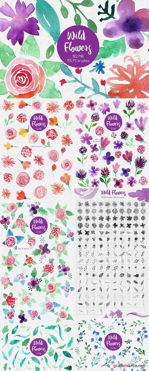 Wild Flowers PS brushes 1310903