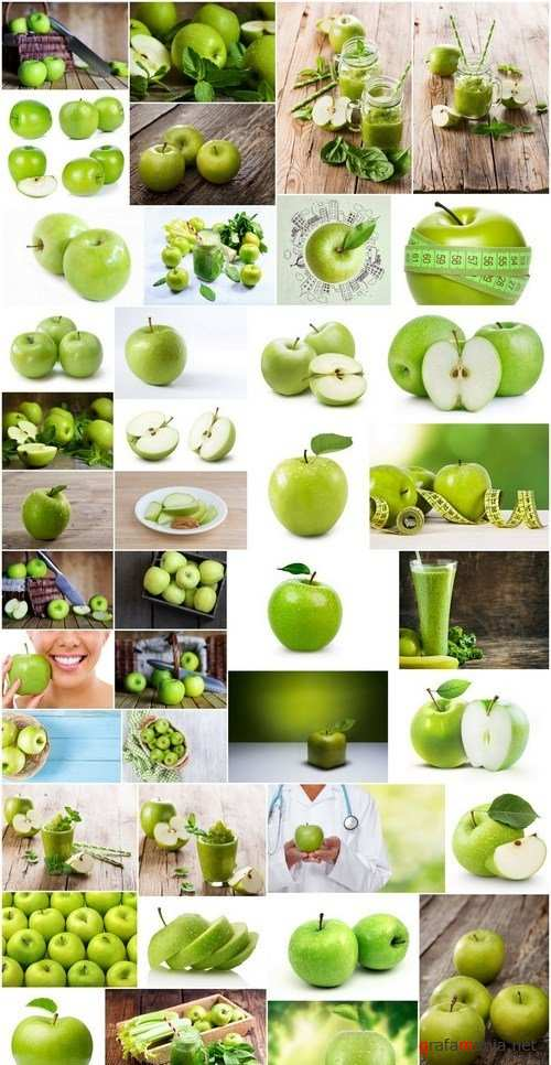 Fresh Green Apple - 41xUHQ JPEG Professional Stock Images