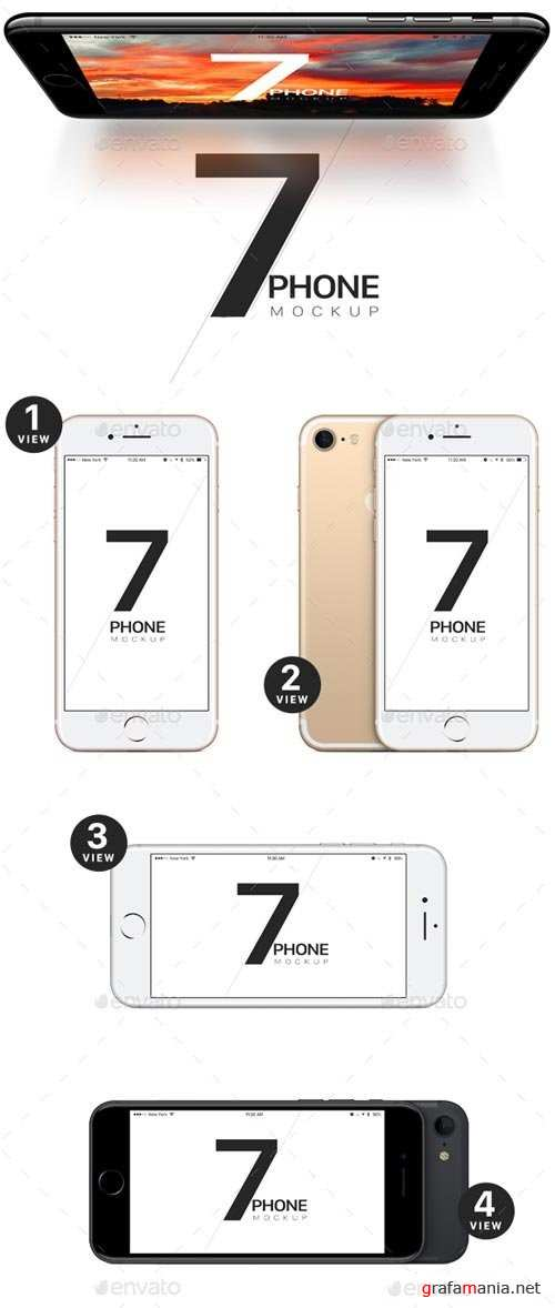 Phone 7 and 7 Plus vector Mockups - 19497908