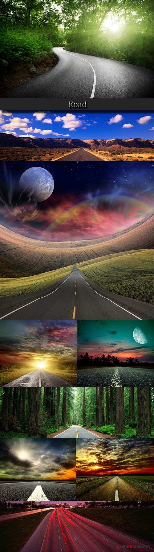 The road raster graphics