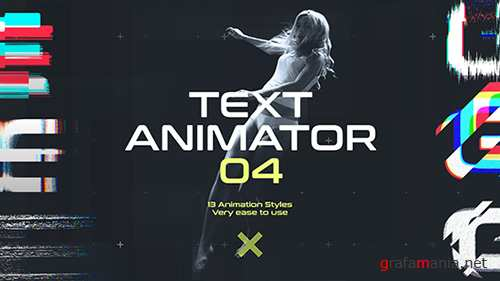 Text Animator 04: Motion Glitch Titles - Project for After Effects (Videohive)