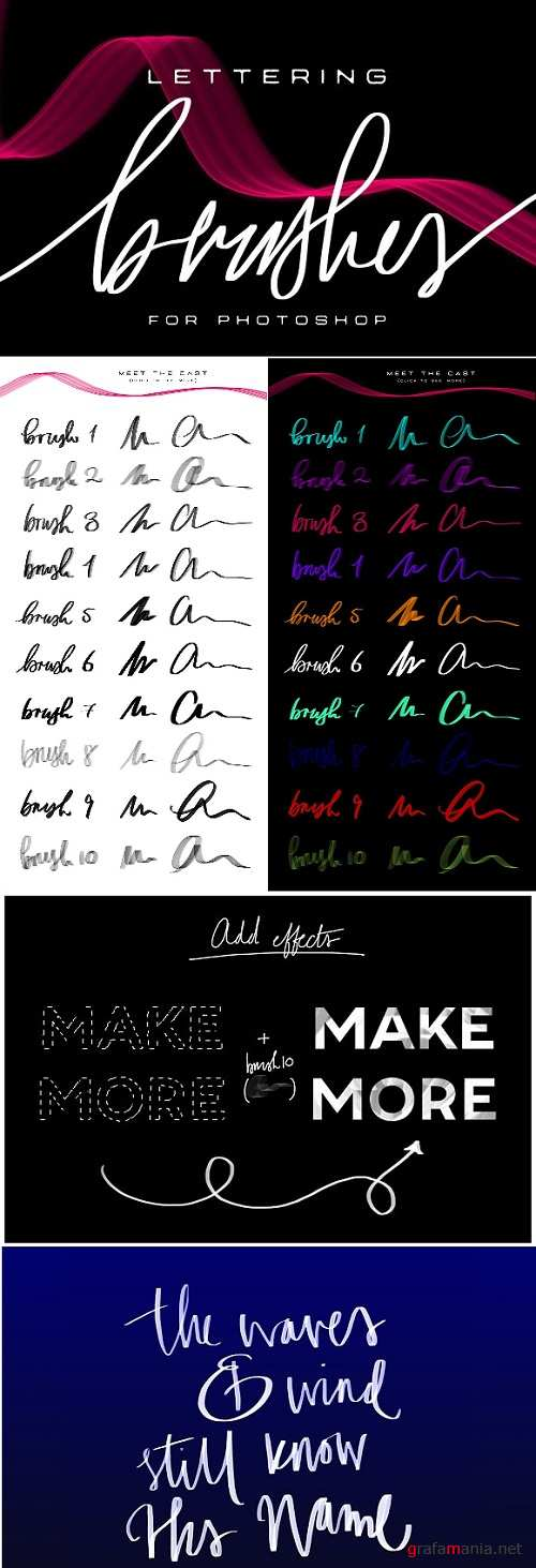 Lettering Brushes For Photoshop 1288172