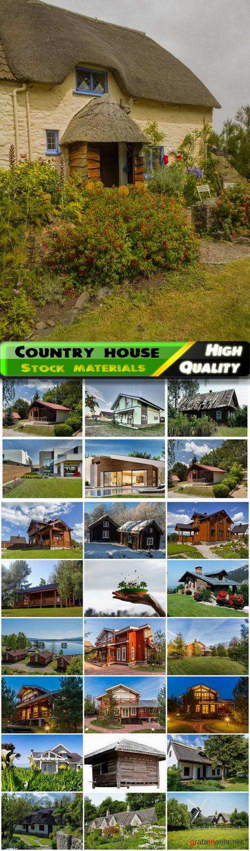 Country house and cottage building exteriors with lawn 25 Jpg
