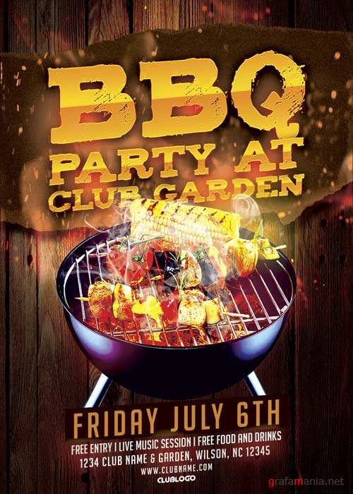 BBQ Party V11 Flyer Template