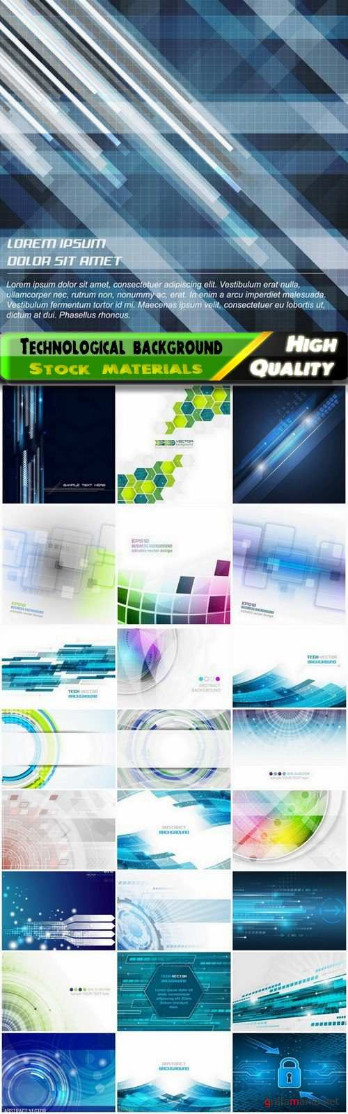 Abstract fantastic and futuristic technological background 25 Eps
