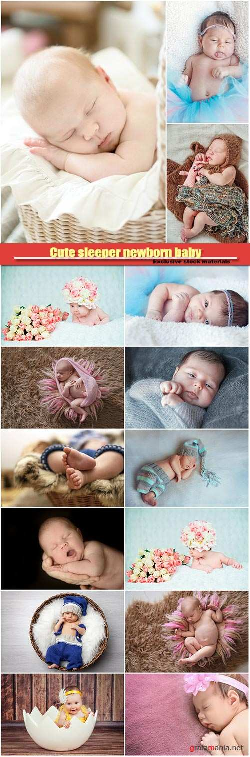 Cute sleeper newborn baby