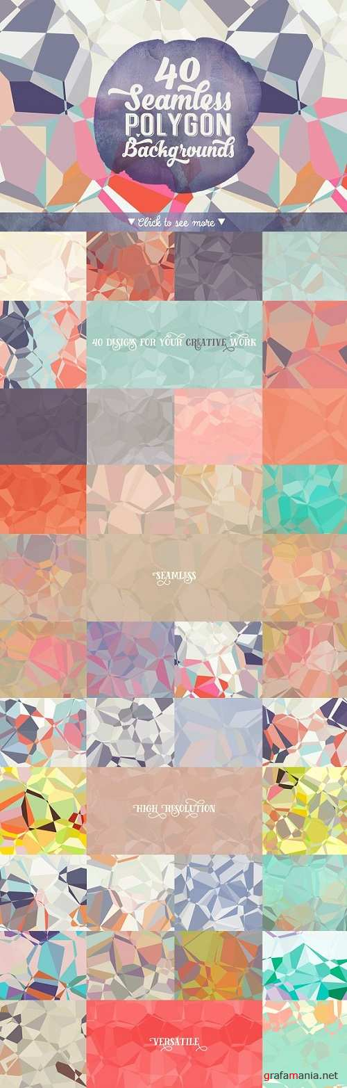 40 Seamless Polygon Backgrounds - 215671