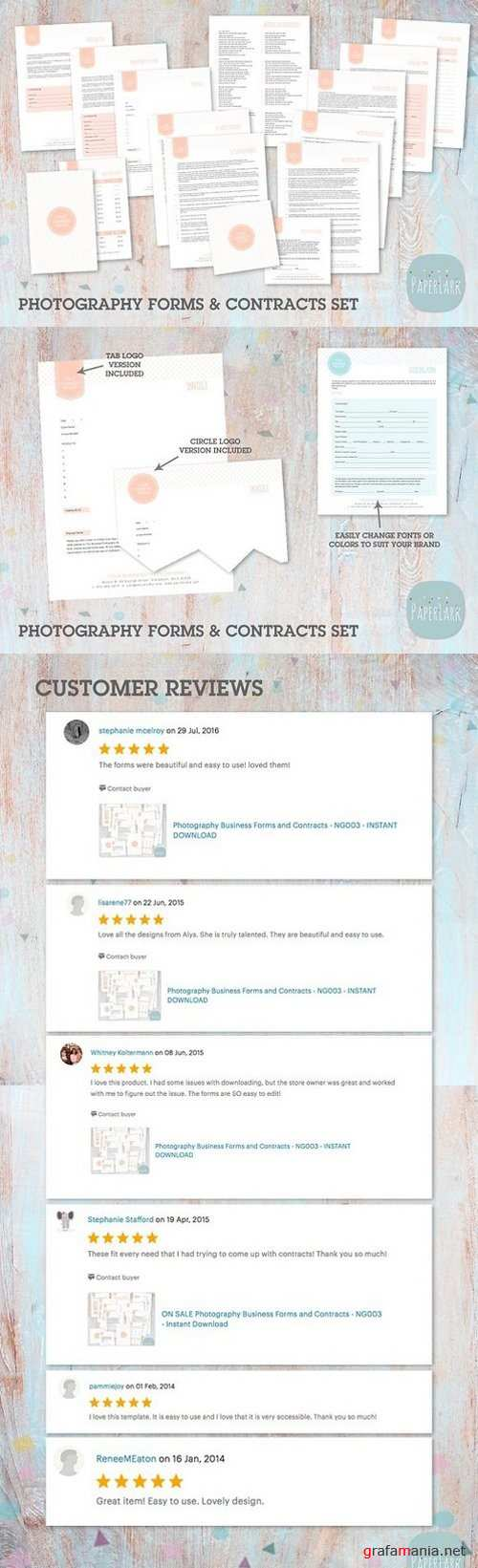 NG003 Photography Contracts & Forms 1310195