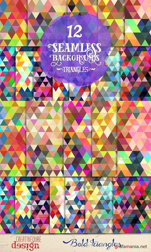 Bold Triangles Seamless Backgrounds - 129643