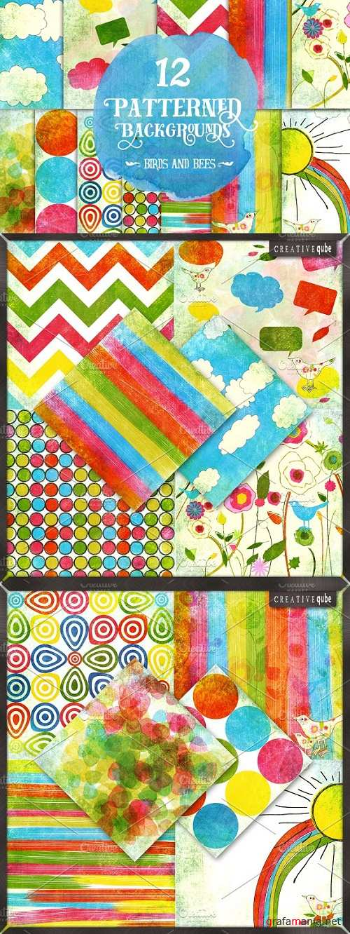 Digital Scrapbook paper pack - 128830