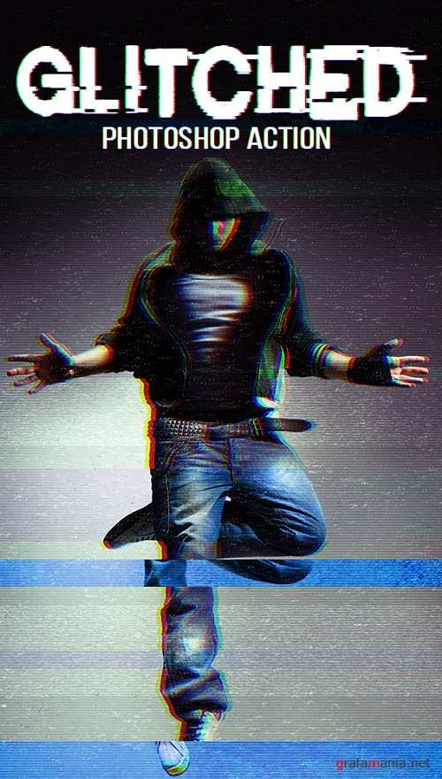 Glitched Photoshop Action - 17025495