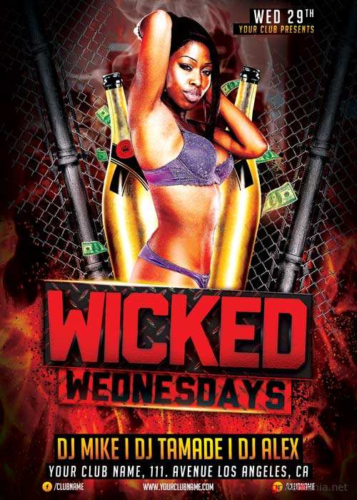 Wicked Wednesday V5 Flyer Template