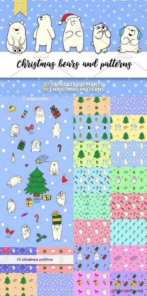 Christmas bears and patterns 1024442