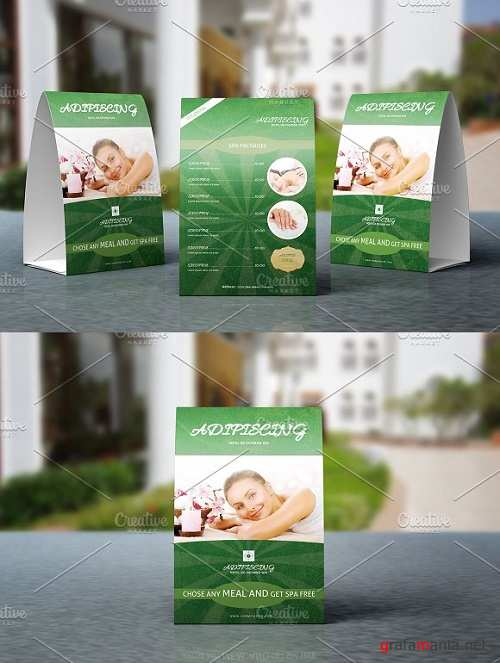 Spa Center Table Tent Template-V03 1319238