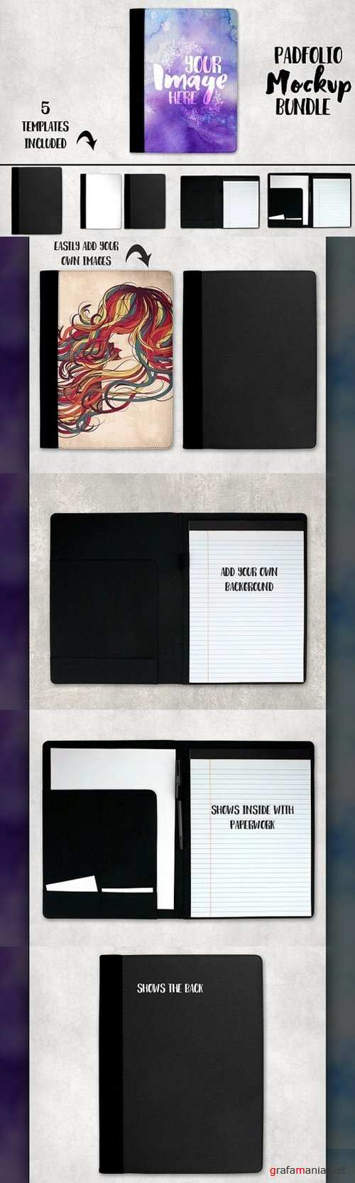 Padfolio Notepad Cover Mockup 1311829