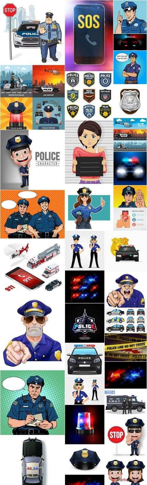 Police Collection - 36 Vector