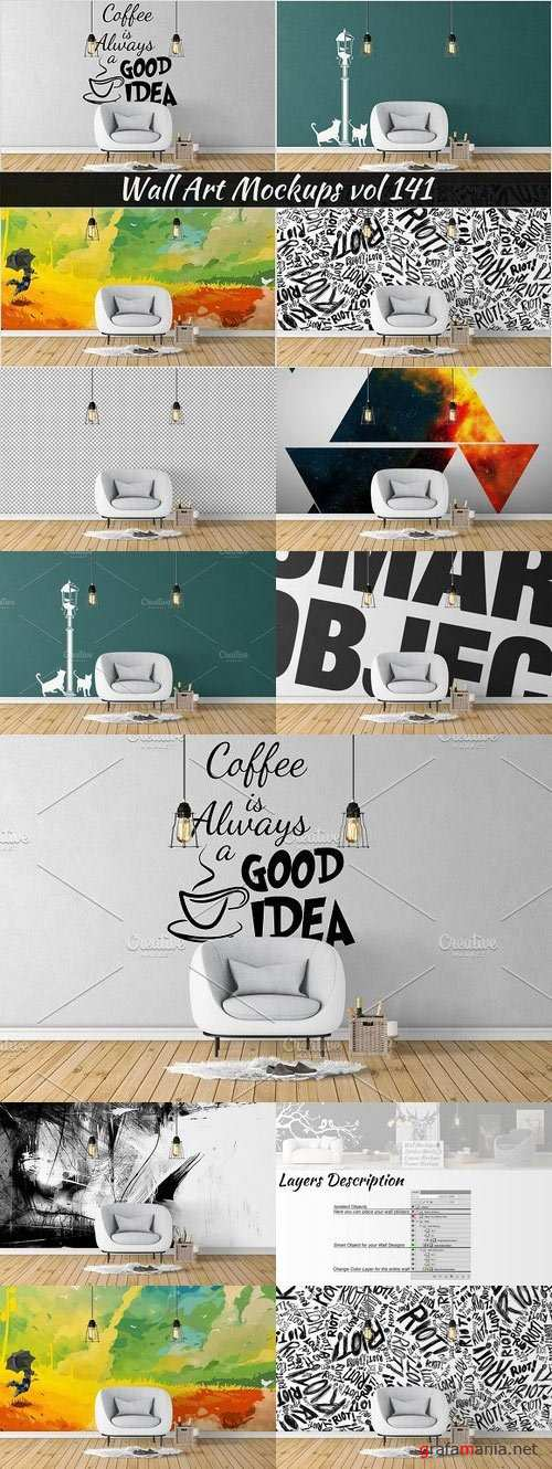 Wall Mockup - Sticker Mockup Vol 141 1097295