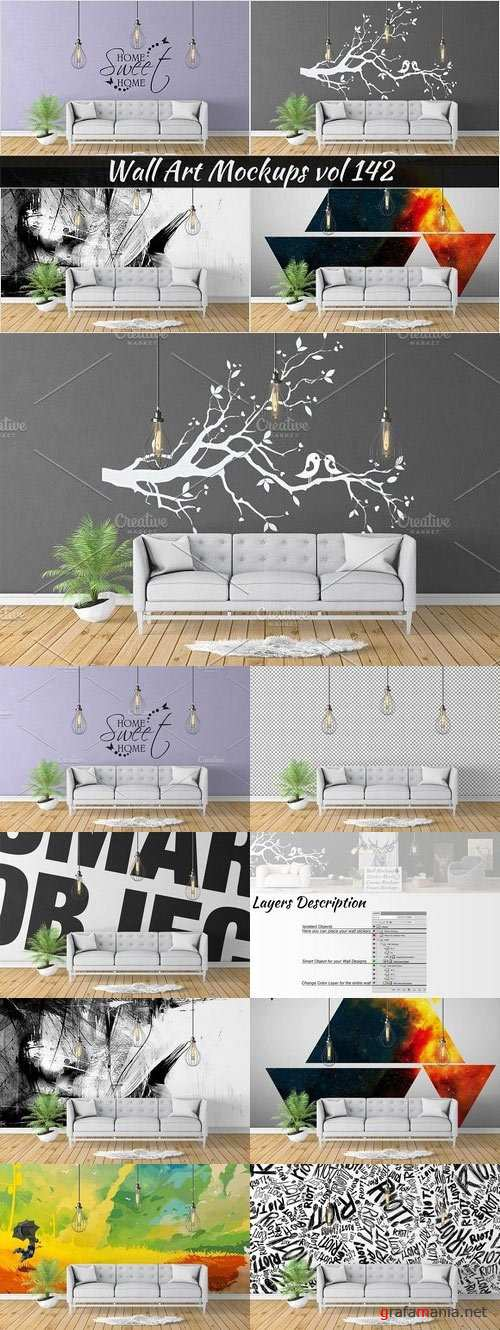 Wall Mockup - Sticker Mockup Vol 142 1097304