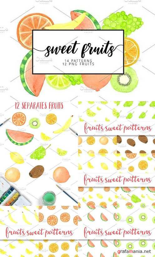 Watercolor sweet fruits 918919