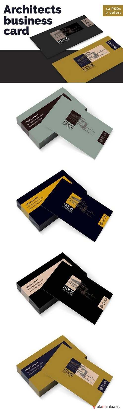 Architects Business Cards Templates - 1312888