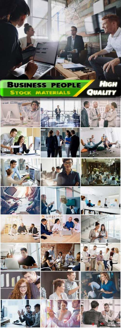 Business characters and people in office at work 3 25 Eps