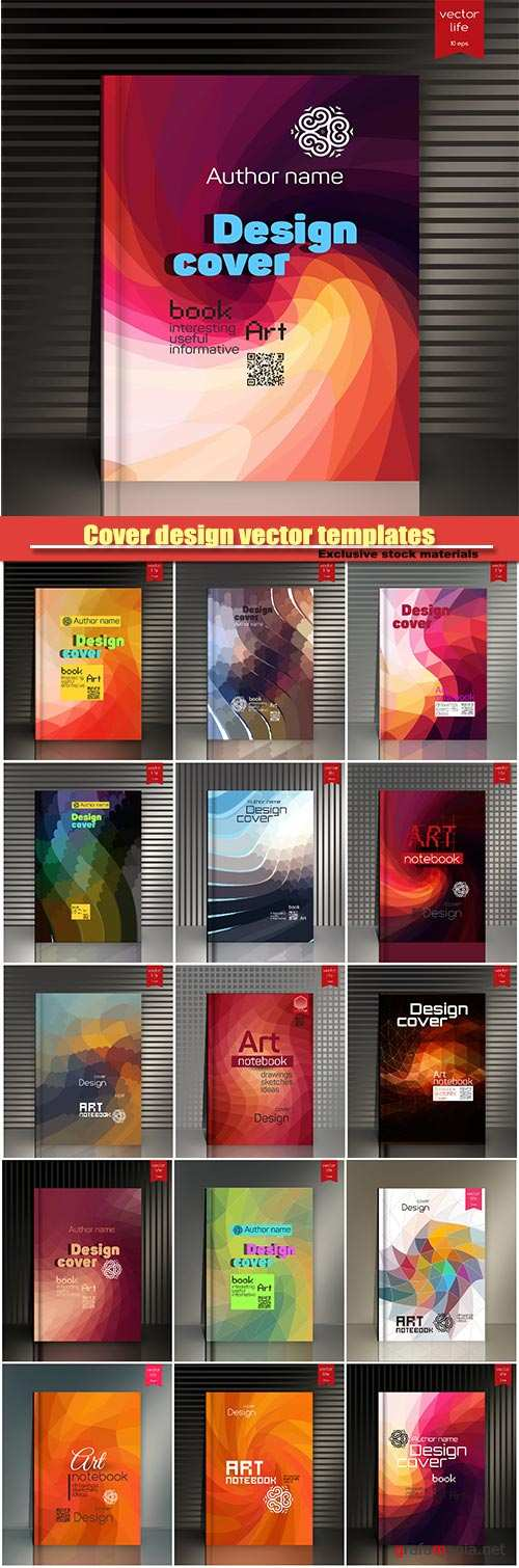 Cover design vector templates, Cover for book, annual report