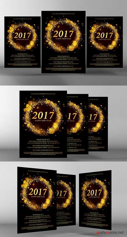 New Year Flyer Template - 1173919